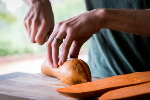 one cut is all it takes: no peeling or chopping necessary