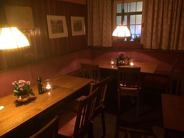 A cozy room at the Swabian restaurant Zur Kiste
