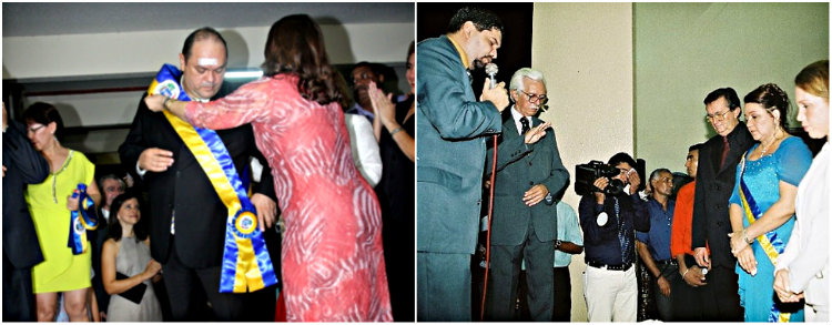 Alexandre Von confirma presença na posse do novo prefeito de Santarém, Posse em 2005 e posse em 2013 em Santarém