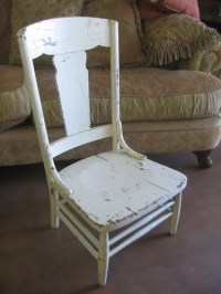 SOLD: Really old wooden chair
