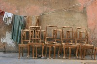 still life with chairs | Delhi's furniture and wood market ...