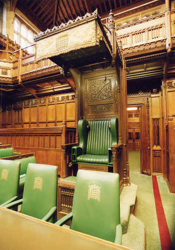 House of Commons Chamber Speakers chair  The Speaker of