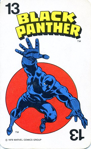 Marvel Comics Superheroes Game Card 13 - Black Panther