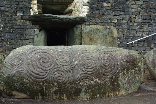 Entrance stone at Newgrange