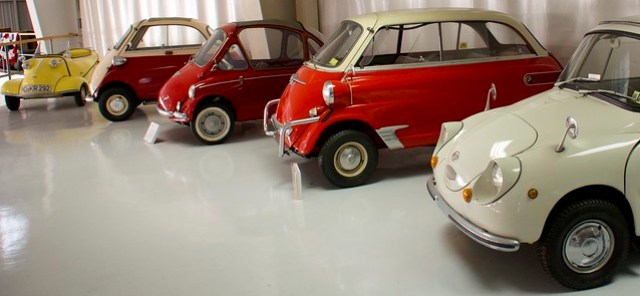 Many mini cars...