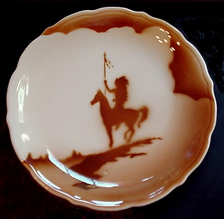 SYRACUSE China Native American Indian brave on a Horse din