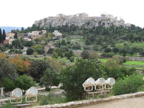 Acrópolis de Atenas desde el Ágora Antigua. ViajerosAlBlog.com.