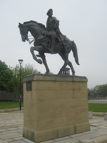 Bonnie Prince Charlie Statue Full Street Derby  The