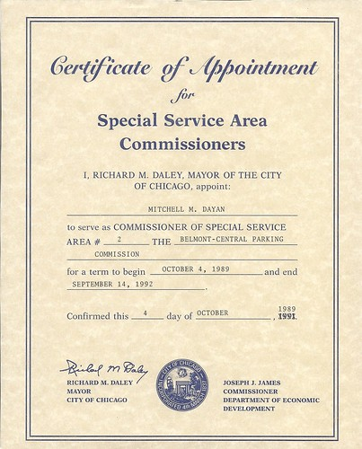 Certificate of Appointment | Notice the year correction. | Flickr