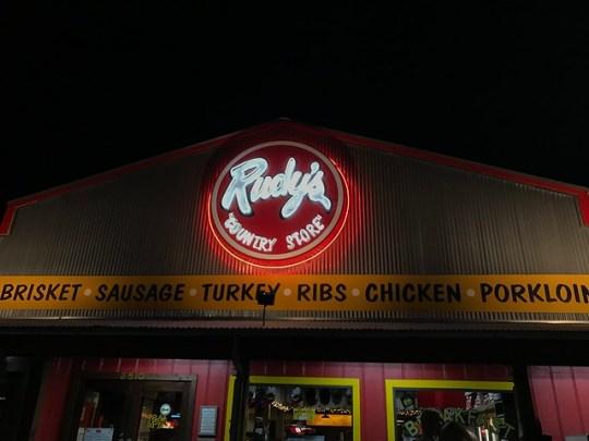 Rudy's BBQ!
