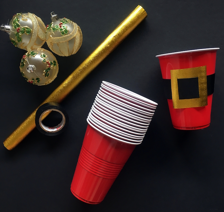 Homemade Parties DIY Party _How to Make Santa Cups03