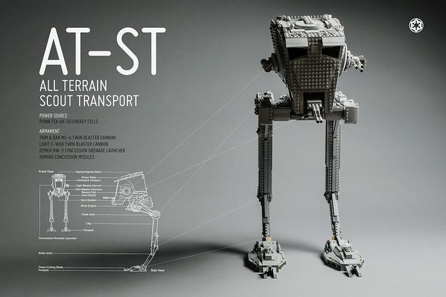 AT-ST fond d'écran LEGO Star Wars
