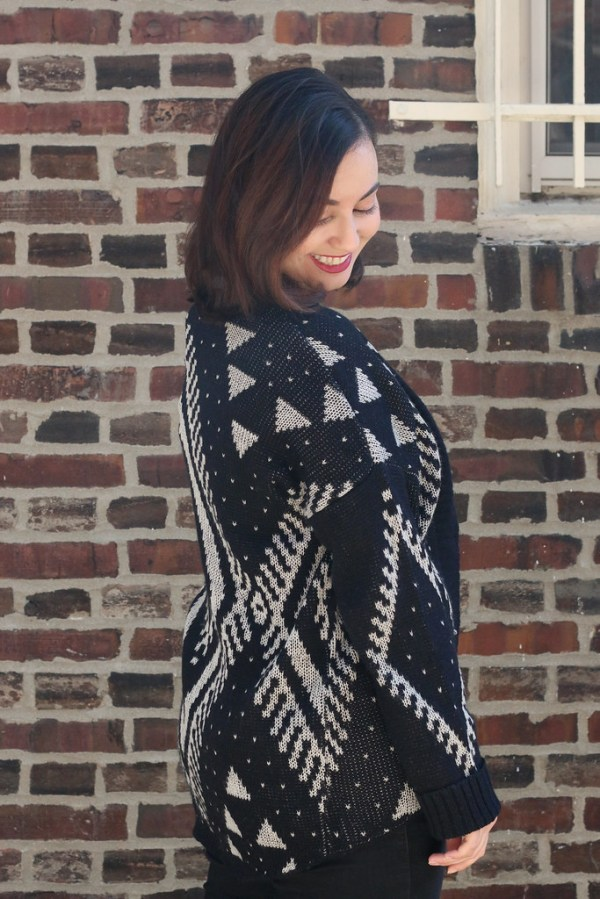 Patterned Tobi Cardigan for Fall | Shades of Sarah