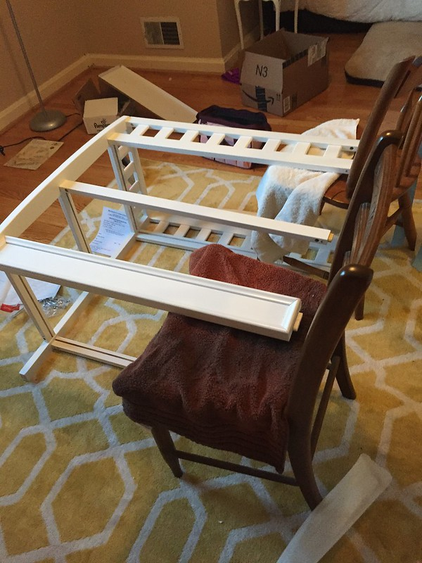 Delta Children Infant Changing Table with Pad assembly