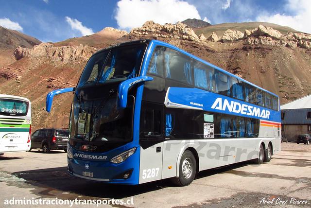 Andesmar | Paso Los Libertadores | Metalsur Starbus 3 - Volvo / AA157BP - N° 5287