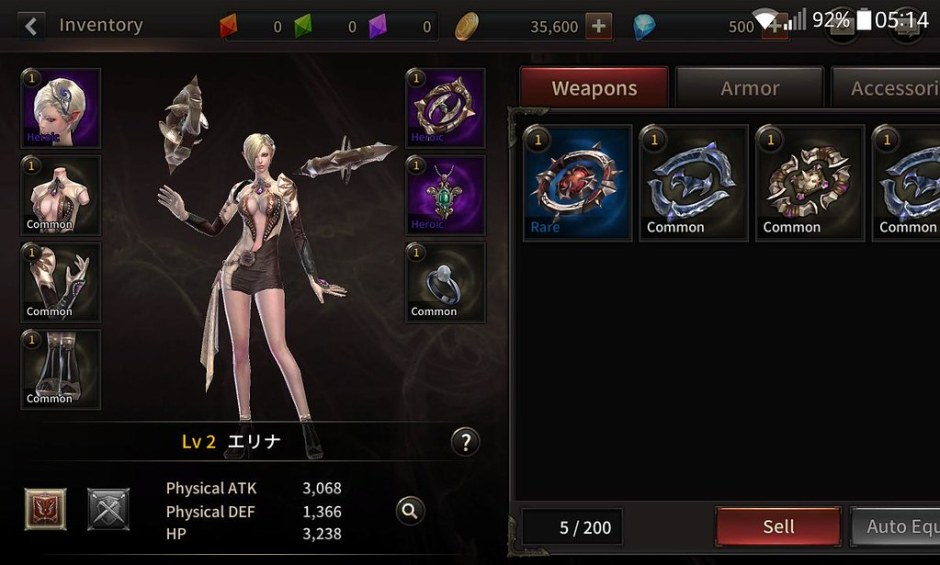 devilian mobile review equip