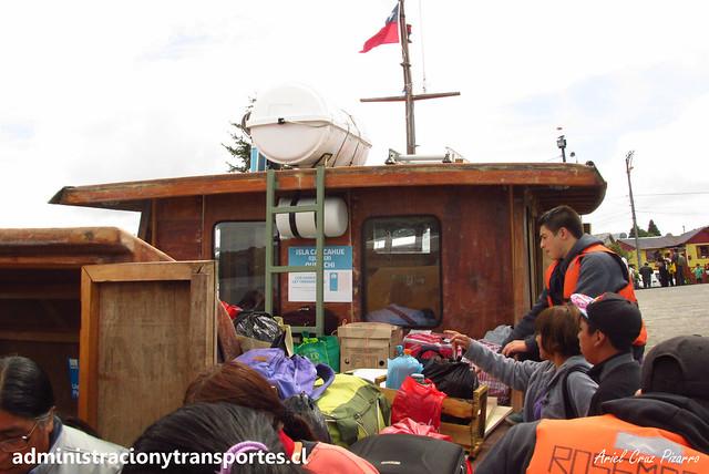 Lancha Rosemarie   Quemchi a Isla Caucahue