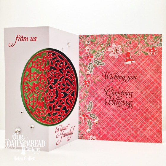 Holly Jolly Oval Zig-Zag Card
