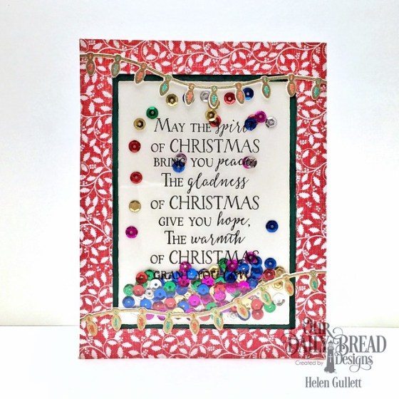 Merry & Bright Shaker Card