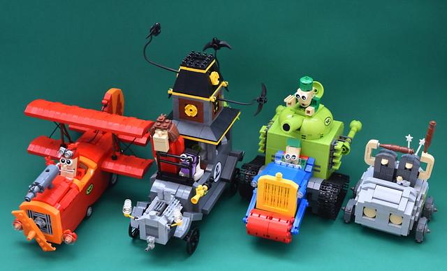 Wacky Races.... LEGO les Fous du Volant