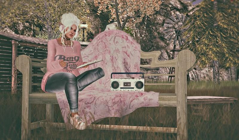 Fresh air, Music and a book = Heaven