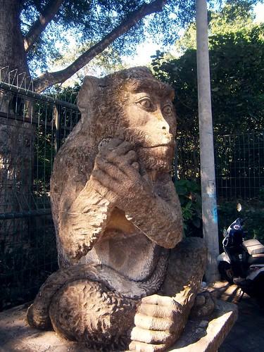 Monkey Temple Monkey Statue