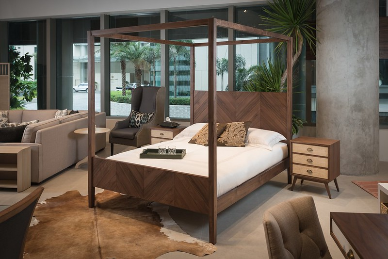 Philux Home Vignette with the Oslo Bed and Oslo Night Tables