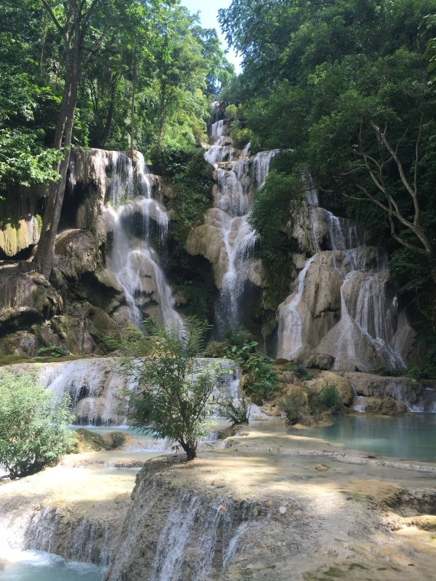 kuang si falls luang prabang laos Alex Explores the World