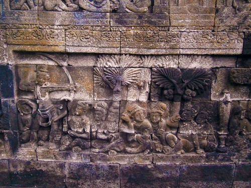 Borobodur Bas Relief Carving Archer