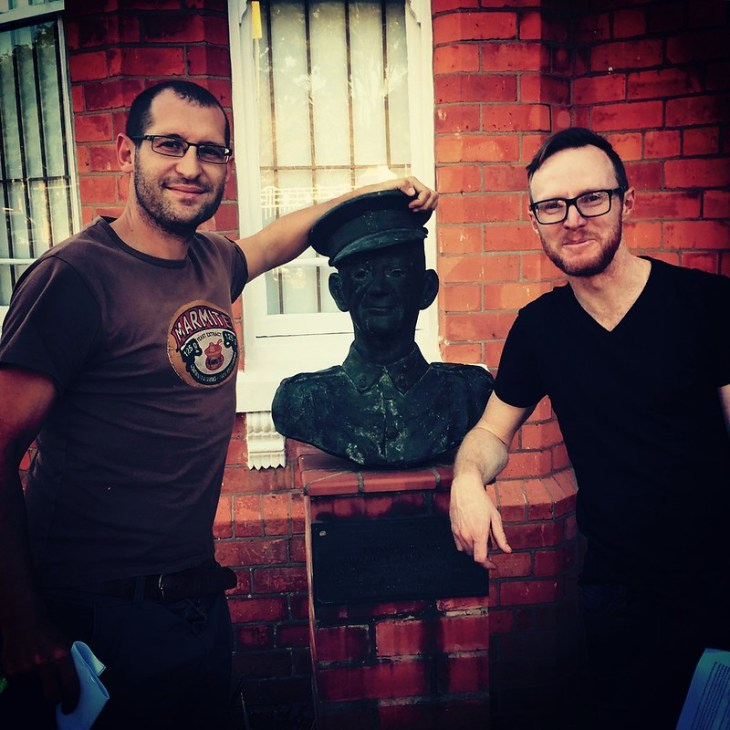 Posing with the dude who invented the Comrades (dead)
