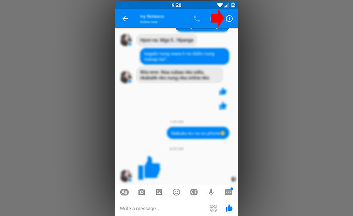Block Facebook Messages