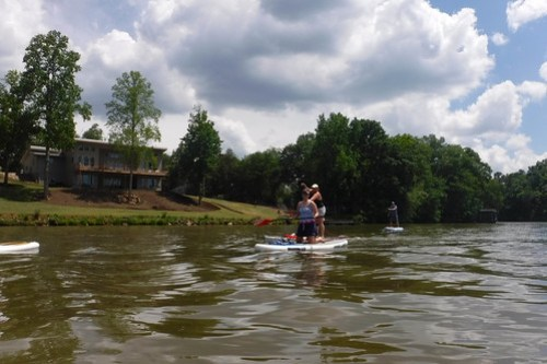 Kayaking and SUP on Saluda Lake-5