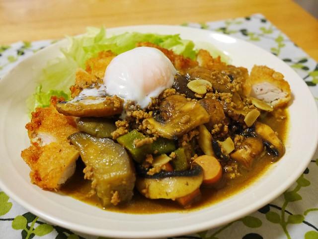 低糖質チキンカツ夏野菜カレー