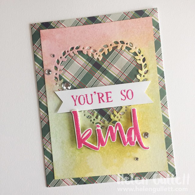 You're So Kind | http://wp.me/p1DmW0-2pI #cardmaking #handmadecard #diecutting #papercrafting #concordand9th #distressink #timholtz #wrmk #evolutionadvanced #americancrafts #creatingjoyfully #100daysofcreatingjoyfully