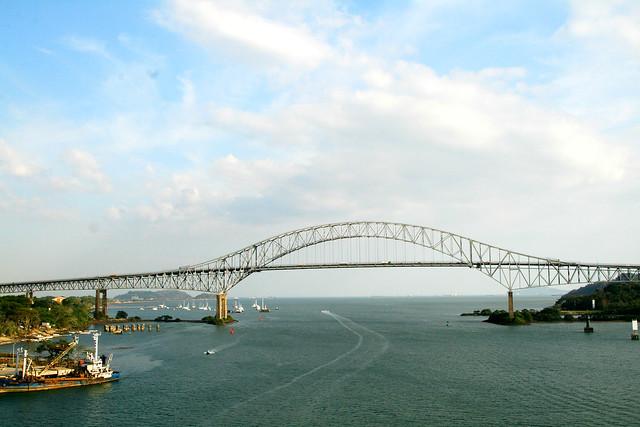 7 - bridge of the americas entering the pacific ocean