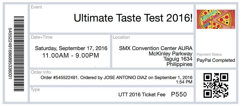 UTT Ticket fee