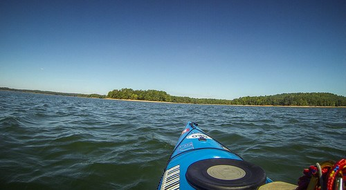Paddling to Ghost Island in Lake Hartwell-107