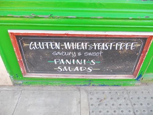 Gluten-free menu, Stoke Newington, London