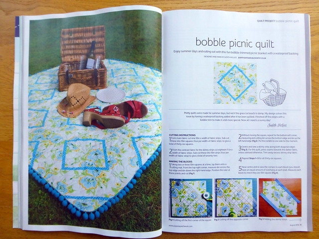 Picnic Bobble Quilt (Popular Patchwork Aug16)