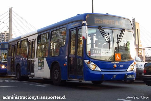 Transantiago 222e | Subus Chile | Marcopolo Gran Viale - Volvo / BJFJ91 - 7333
