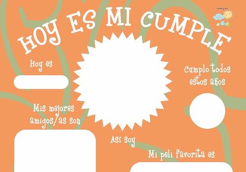 Lámina de cumpleaños para niños. Imprimible gratis