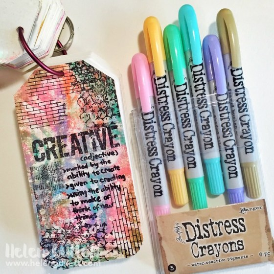 Mixed Media: Experiment With Distress Crayons, Stencils & Stamps
