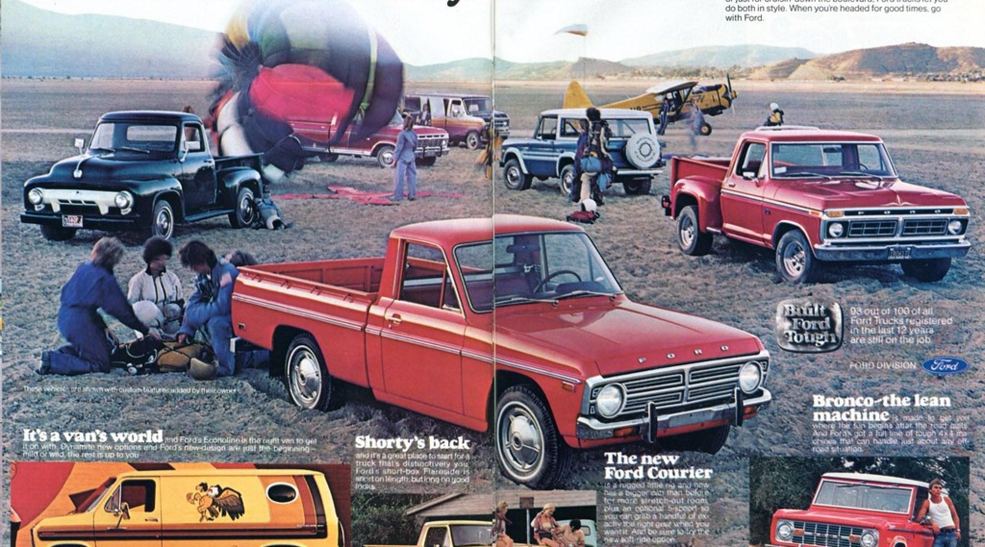 1977 Ford Pickup Truck and Van Advertisement Hot Rod November 1976