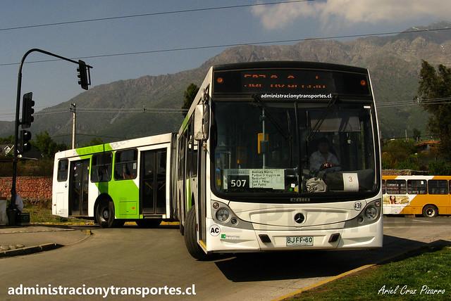 Transantiago | Buses Metropolitana (Metbus) | Caio Mondego HA - Mercedes Benz O500UA / BJFF60 - 439