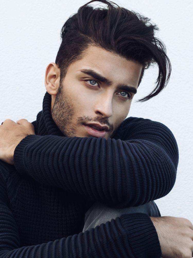 Male Model Black Hair : model, black, Portfolio, Models