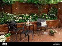 Tea Time Patio Brick Courtyard And With