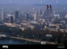 North Korea Asia Pyongyang Cityscape With Koryo Hotel