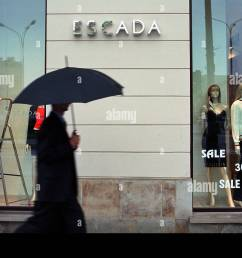 shop window of escada boutique in warsaw poland [ 1300 x 936 Pixel ]