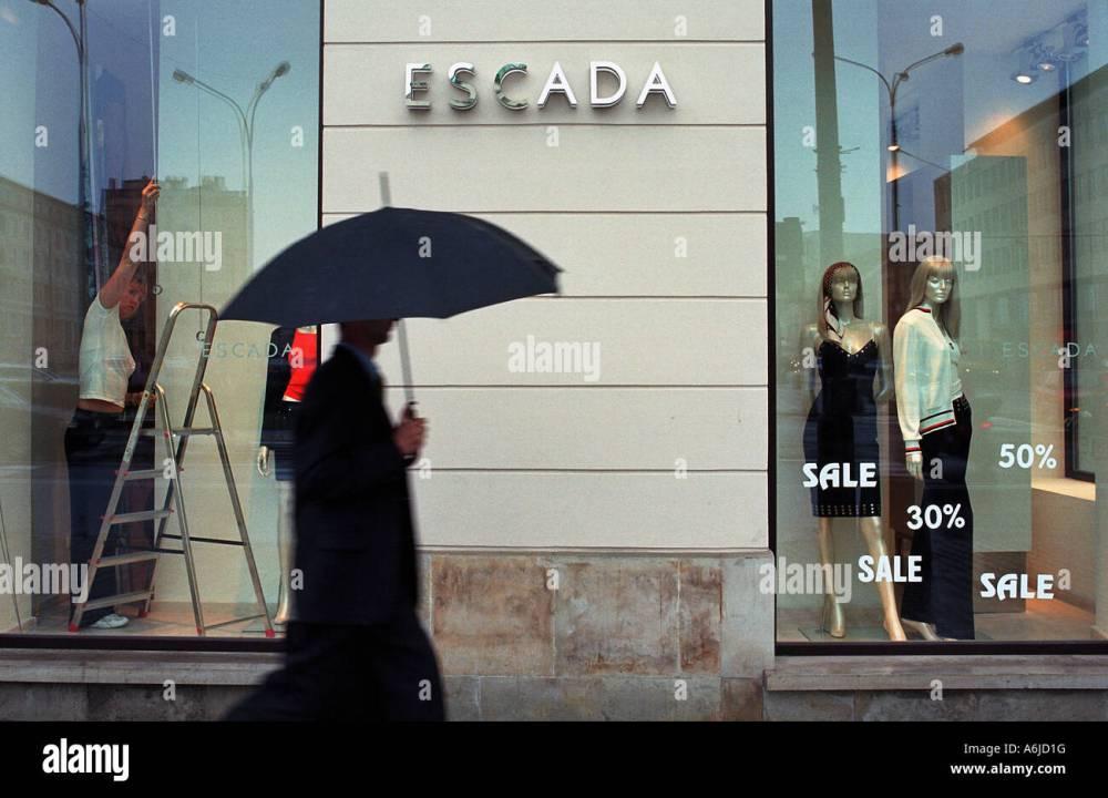 medium resolution of shop window of escada boutique in warsaw poland