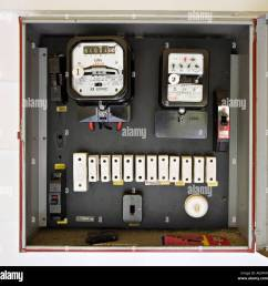 electricity meter in box with old style fuses circa 1962 car fuse box contents car fuse box contents [ 1300 x 1281 Pixel ]
